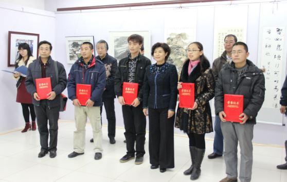 艺术传媒系教师在唐山市教育卫生系统职工书...<BR>