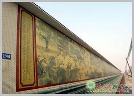 艺术设计专业学生参与的1450平方米大型陶瓷壁画《清明上河图》